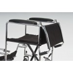 Кресло-каталка стандартная для инвалидов, грузоподъемность до 110 кг, цвет черный, ширина сиденья по выбору: 43,5 или 46 см