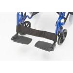 Инвалидная кресло-каталка Н030С, грузоподъемность до 110 кг, цвет черный, ширина сиденья 41,5 см, вес 15,6 кг (200900006)