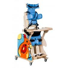 """Кресло многофункциональное-вертикализатор """"RAINBOW""""  для детей с заболеванием ДЦП и детей-инвалидов  (размер R), деревянное,  привод - электро, вес 43 кг, максимальная нагрузка 35 кг"""