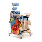 """Кресло многофункциональное- вертикализатор """"RAINBOW""""  для детей с заболеванием ДЦП и детей-инвалидов  (размер R), деревянное,  привод - электро, вес 43 кг, максимальная нагрузка 35 кг"""