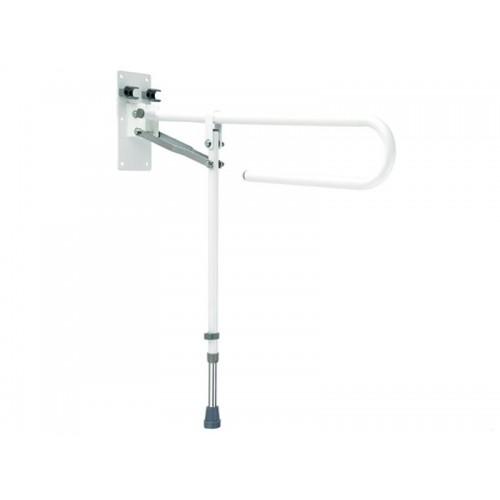 """Поручень складной для ванной комнаты """"PROFI-PLUS""""стальной, на ножке, 74 см (LY-3001-310)"""