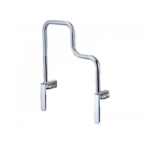 """Поручень опорный для ванной """"PROFI-NORMAL"""" хромированный, ступенчатый (LY-3002)"""