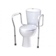 """Поручень опорный для ванной комнаты и туалета """"PROFI-MINI"""" хромированный, с регулировкой по высоте и ширине (LY-3004)"""