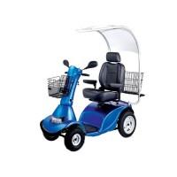 Инвалидная коляска - скутер LY-EB103-415 с электроприводом, 4-х колесный, поворотное сиденье, грузоподъемность 180 кг, вес 140 кг