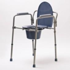 Кресло туалетное DRVW01, складное, с регулировкой высоты, максимальная нагрузка до 100 кг, рабочая ширина 46 см