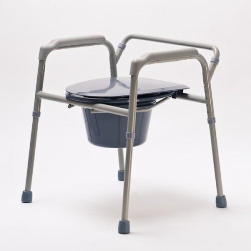 Кресло туалетное DRVW02, нескладное, с регулировкой высоты, максимальная нагрузка до 100 кг, рабочая ширина 42 см