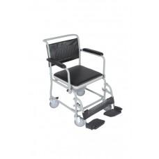 Кресло туалетное VCWK2, складное на колёсах, с подпорками для ног, максимальная нагрузка до 100 кг, рабочая ширина 48 см