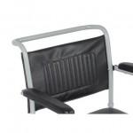 Складное туалетное кресло на колесах с подпорками для ног VCWK2