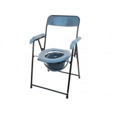 Кресло-туалет Akkord-Midi LY-2002 для инвалидов, складное, с опорой для спины и подлокотниками, рабочая ширина 38см, максимальная нагрузка 120 кг, вес 4 кг