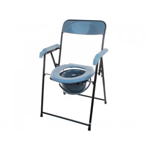 Складное кресло-туалет для инвалидов с опорой для спины и подлокотниками Akkord-Midi LY-2002