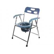 Кресло-туалет Akkord-Midi LY-2002L для инвалидов, складное, с опорой для спины и подлокотниками, рабочая ширина 38см, максимальная нагрузка 120 кг, вес 5 кг