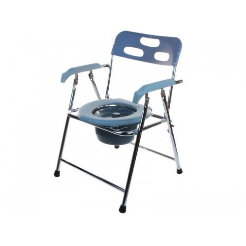 Кресло-туалет Akkord-Midi LY-2002L для инвалидов, складное, с опорой для спины и подлокотниками, рабочая ширина 38см  (LY-2002L)