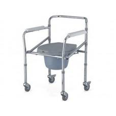 Кресло-туалет Akkord LY-2003 с опорной рамой, на колесах, рабочая ширина 45 см, грузоподъемность 100кг, вес 6 кг