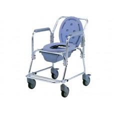 Кресло-туалет Akkord LY-2003M с опорной рамой, на колесах, рабочая ширина 43 см, максимальная нагрузка 100 кг, вес 7 кг