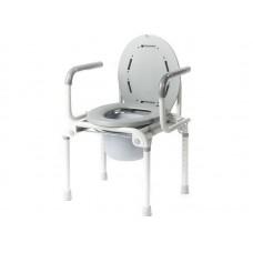 Кресло-туалет Akkord-Klapp LY-2006 с опорной спинкой и отпускающимися подлокотниками, рабочая ширина 36см, максимальная нагрузка 100 кг, вес 7кг
