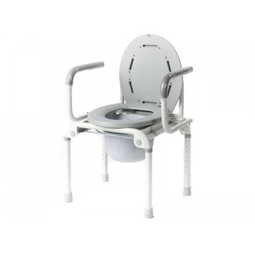 Кресло-туалет Akkord-Klapp LY-2006 с опорной спинкой и отпускающимися подлокотниками