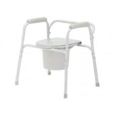 Кресло-туалет Akkord-Mini LY-2011 складной, не съемные подлокотники, рабочая ширина 39 см, максимальная нагрузка 100 кг, вес 6,5 кг