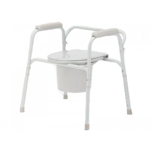 Кресло-туалет Akkord-Mini складной, не съемные подлокотники, рабочая ширина 39 см (LY-2011)