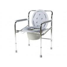 Кресло-туалет Akkord-Midi LY-2012 с опорной рамой и несъемными подлокотниками, рабочая ширина 38 см, максимальная нагрузка 100 кг, вес 6,5 кг