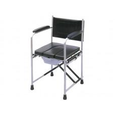 Кресло-туалет LY-2815 для инвалидов, с мягким сидением, опорной спинкой и подлокотниками, рабочая ширина 44 см, максимальная нагрузка 110 кг, вес 9 кг