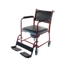 Кресло-каталка LY-800-154 с туалетным устройством для инвалидов  с опорной спинкой, мягким сиденьем, рабочая ширина 43 см, максимальная грузоподъемность 120 кг, вес 15 кг