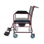 Кресло-каталка  с туалетным устройством для инвалидов и опорной спинкой LY-800-154