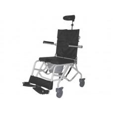 Кресло-туалет Baja-LY-800-140009 для инвалидов с регулировкой угла наклона сиденья, рабочая ширина 45 см, максимальная грузоподъемность 120 кг, вес 16 кг