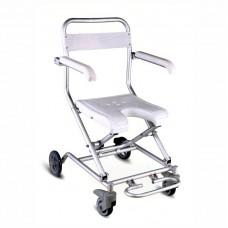 Кресло-туалет  FS7962L для инвалидов, складное, на колесах,  с регулируемой подножкой, рабочая ширина 38 см, максимальная нагрузка 100 кг, вес 5,8 кг