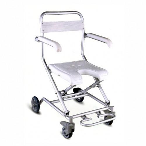 Складное кресло-туалет для инвалидов с регулируемой подножкой FS7962L
