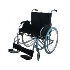 Кресло-коляска стандартная LY-250-XL для инвалидов, механическая, цвет черный, стальная рама, ширина сиденья 56 см, грузоподъемность 170 кг