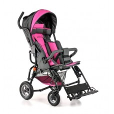 Кресло-коляска OPTIMUS для детей-инвалидов и детей с ДЦП, складная, облегченная алюминиевая рама, пневмо колеса, вес 19,5 кг, допустимая нагрузка до 60 кг, цвет в ассортименте