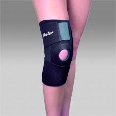 Фиксатор колена F1281 с пластинами, разъемный, согревающий, с массажным эффектом, цвет черный, универсальный размер