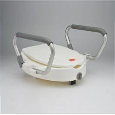 Съемное сиденье для туалета(насадка) С60750  с подлокотниками и крышкой, белое (202100004)