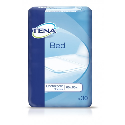 Простыни впитывающие TENA Bed Underpad Normal, 60х60 и 60х90 см, 30 шт/уп.