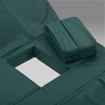 Матрац четырехсекционный с санитарным отверстием, с чехлом из водоотталкивающей ткани, 1950х850х80 мм, грузоподъемность до 125 кг