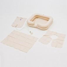Комплект для мытья головы лежачих больных: ванна надувная, емкость для воды, защитный фартук, размер 60x60x15 см