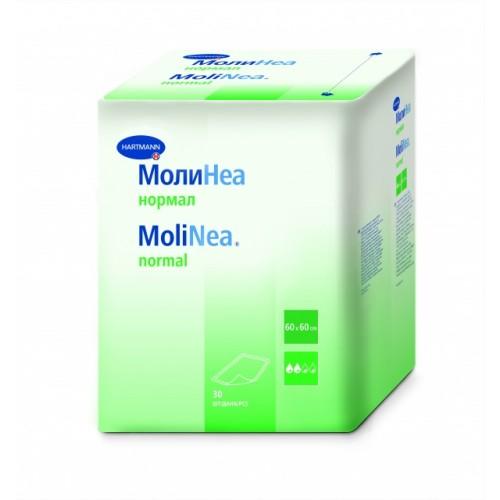 Впитывающие пеленки  MoliNea normal, размер 60 х 60 см, 30 шт/уп