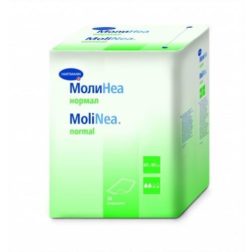 Впитывающие пеленки MoliNea normal, размер 60 х 90 см, 80 г/м2, 30 шт/уп