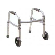 """Ходунки стальные """"OPTIMAL-KAPPA"""" детские с регулировкой по высоте и передними колесами (LY-506-912S)"""