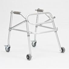 Ходунки-роллаторы металлические FS9122L реверсивного типа,регулируемые по высоте, на колесах, максимальная нагрузка100кг(201900002)