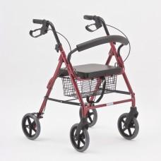 Ходунки-роллаторы  металлические FS965LH с регулировкой по высоте, на колесах, допустимая нагрузка 110 кг (201900003)